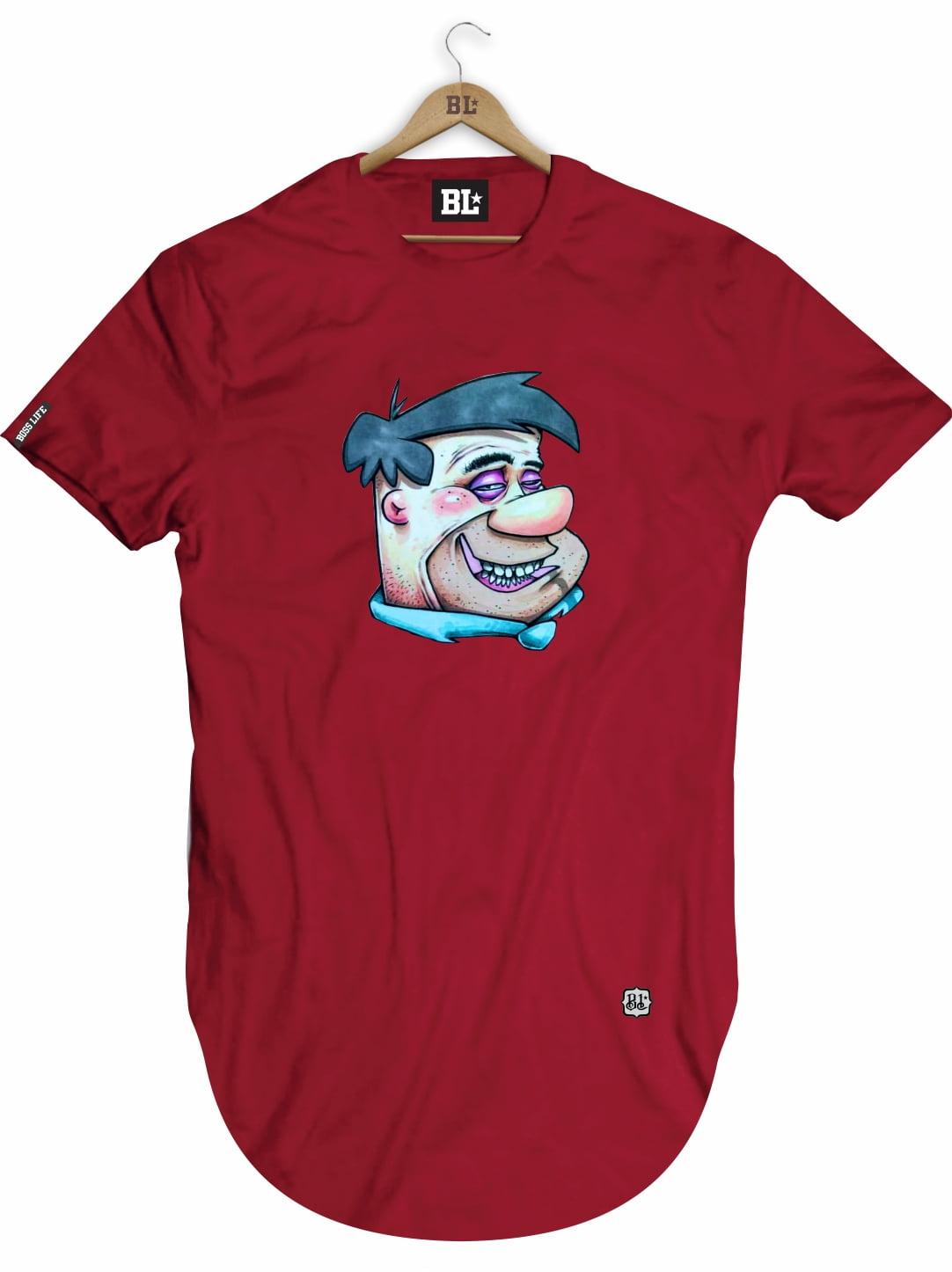 Camiseta Longline Fred Face