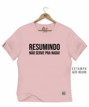 CAMISETA BABY LOOK RESUMINDO