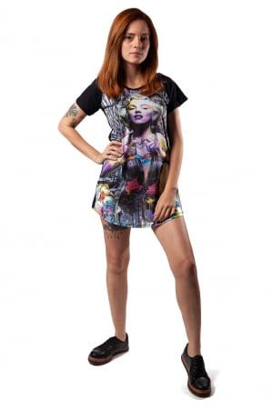 Camiseta Feminina Long Marilin CF1009